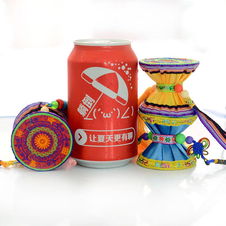 广西壮族传统民间手工艺品 壮锦壮绣布艺铜鼓 民族创意礼品 包邮