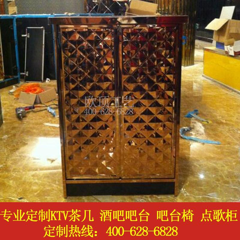 新款KTV包厢点歌柜功放柜箱子发光茶几KTV设备柜连点歌台定制