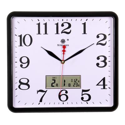 挂钟客厅静音方形14英寸