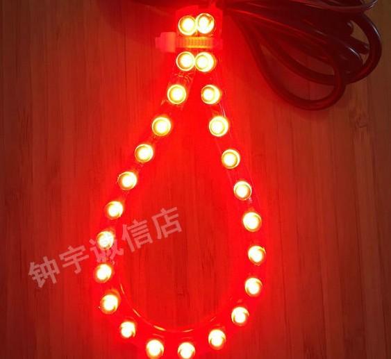 USB插头带开关拉活灯LED小红灯空车灯黑空车灯出租灯24珠灯小红灯