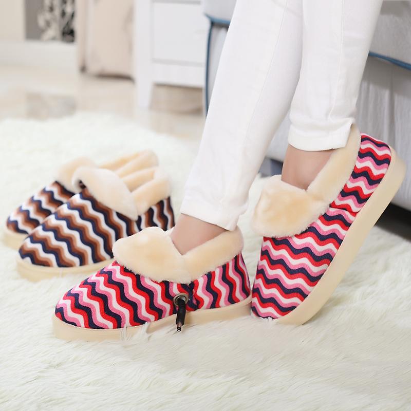 电暖鞋 电热保暖鞋暖脚鞋插电暖脚宝多功能暖脚垫加热鞋垫