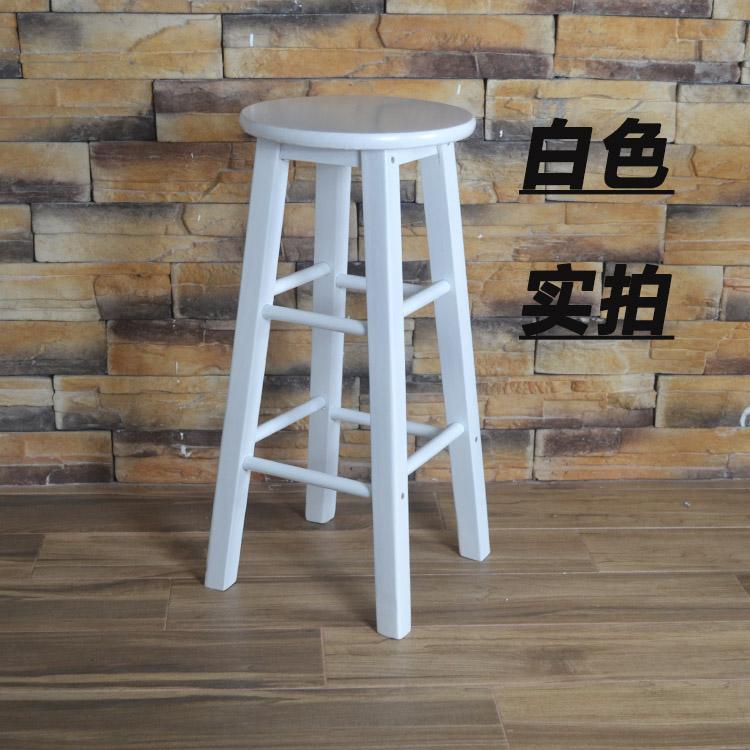 简约简约吧台椅休闲酒吧椅新实木酒吧櫈子高梯凳理发椅2017椅时尚