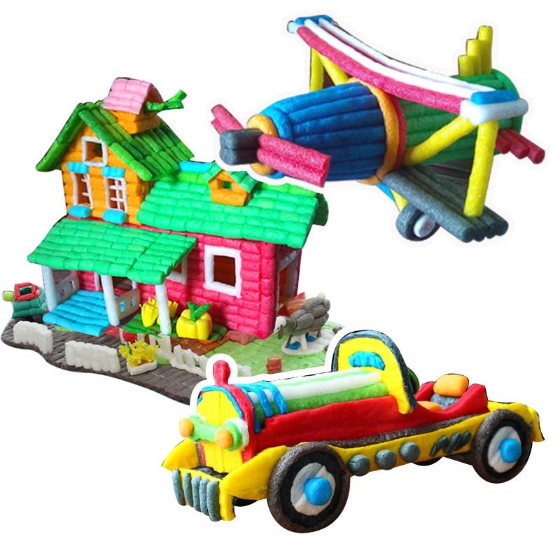 幼儿园手工魔法DIY玉米粒玩具儿童礼物益智拼装积木