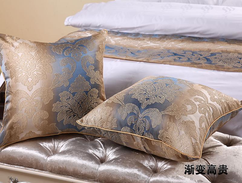 宾馆酒店床上用品同等靠枕抱枕套芯可配靠垫花色床旗