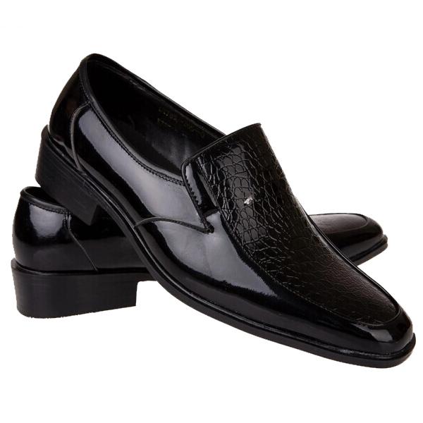 影楼拍照男士黑白色皮鞋舞台大合唱主持演出鞋礼服皮鞋新郎伴郎鞋