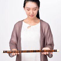 调梆笛曲笛F调G湛文兵专业精制紫竹笛一节笛初学笛子乐器大人横笛
