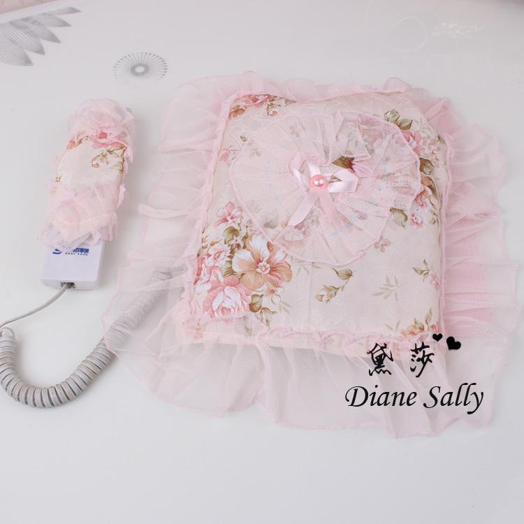 包邮电话罩电话套电话防尘罩邮蕾丝布艺电话罩子盖巾电话防尘罩