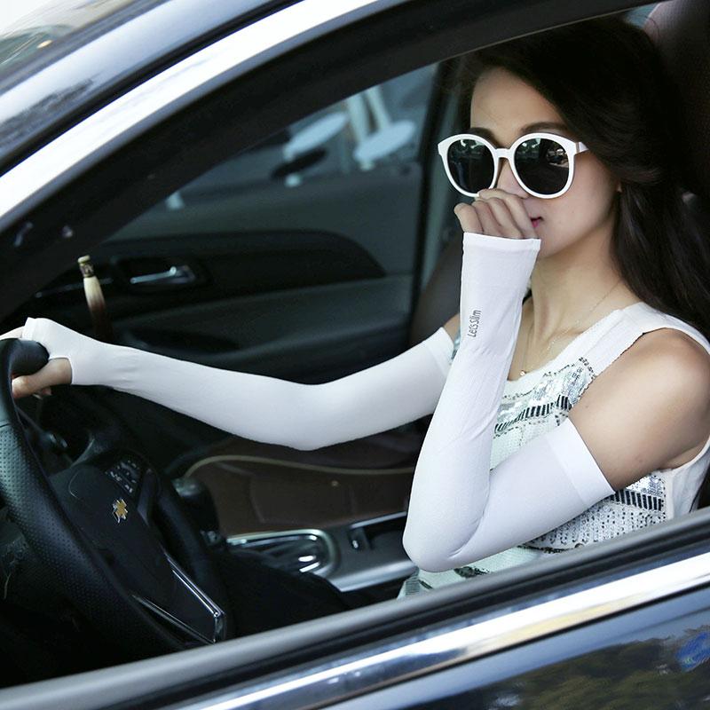 夏季新款司机防晒手套男女冰丝手臂套开车骑行防紫外线汽车用品