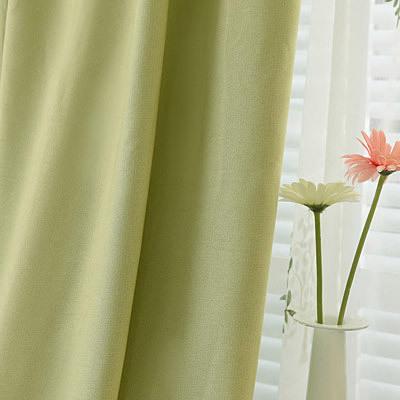 布料遮光简约现代全窗帘韩式棉麻亚厅成品卧室纯色绿色小清新好不好
