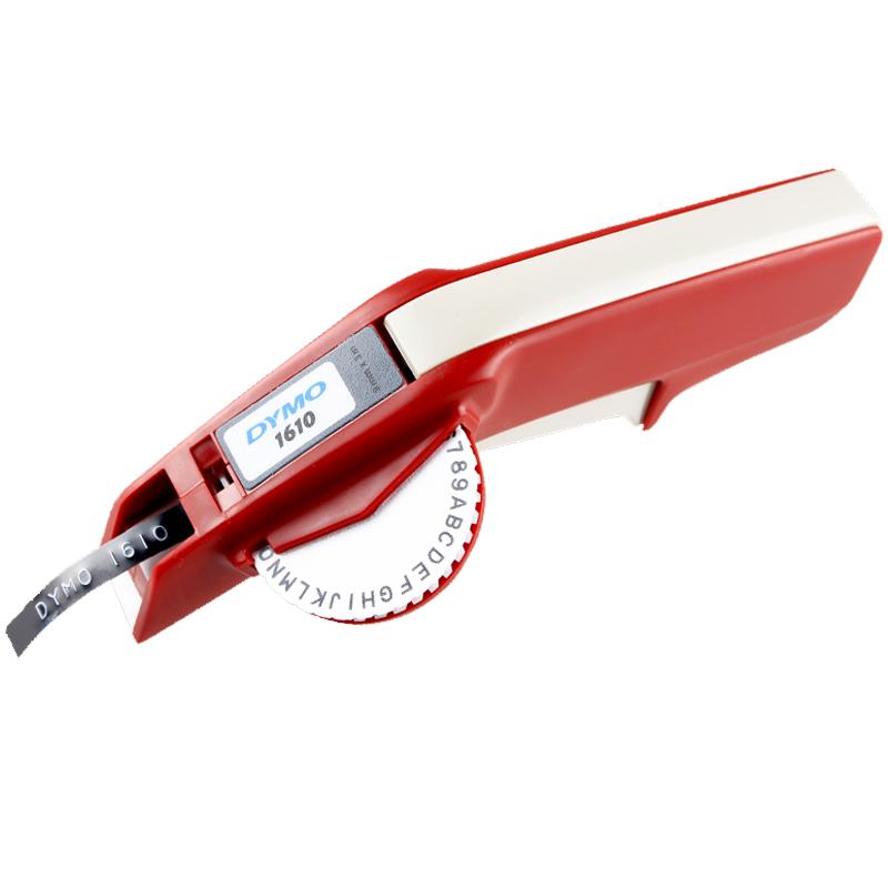 dymo标签机1610手动标签机凹凸3D带模机打码机标价机刻字机打姆机