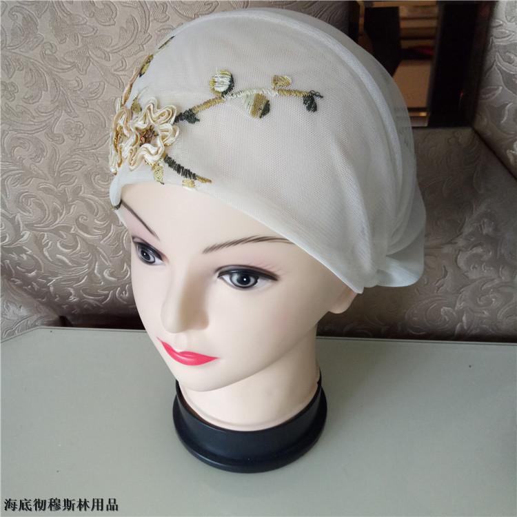 伊斯兰手工小帽穆斯林女式绣花帽子回族头巾盖头春夏薄款小帽包邮