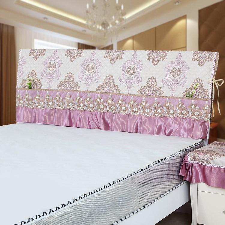 欧式弧形床头套拆洗头罩床单布艺防尘罩米床床裙罩套枕芯简约床头