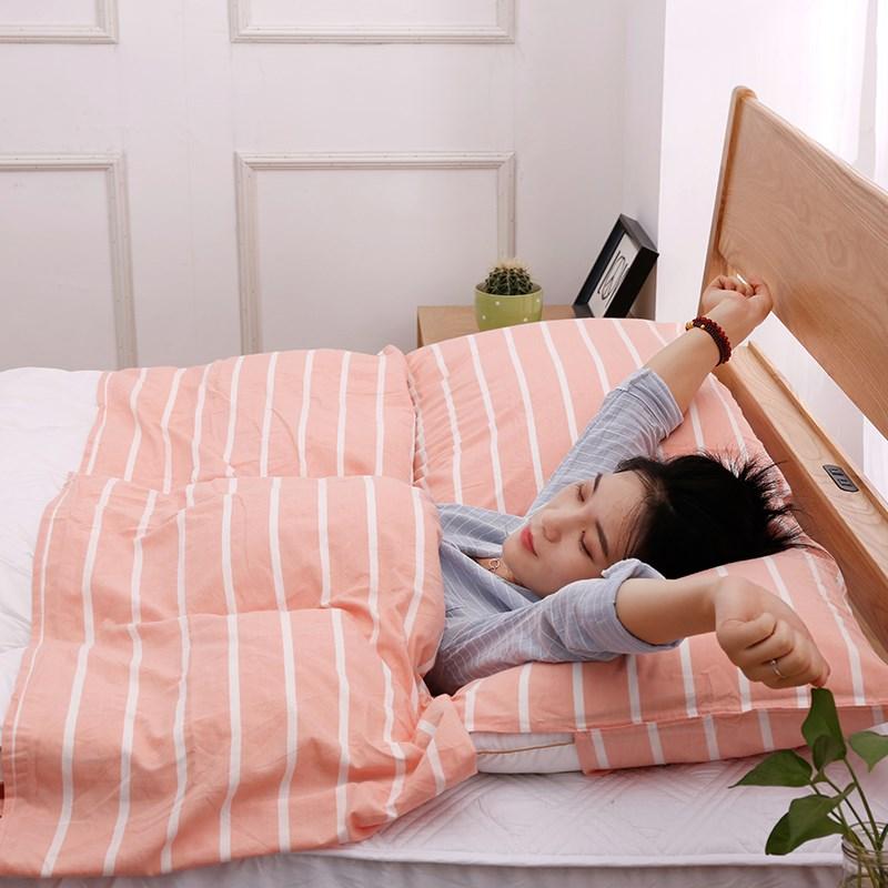 旅行酒店隔脏睡袋简约便携式成人床单人双人被套外出差旅游用床套