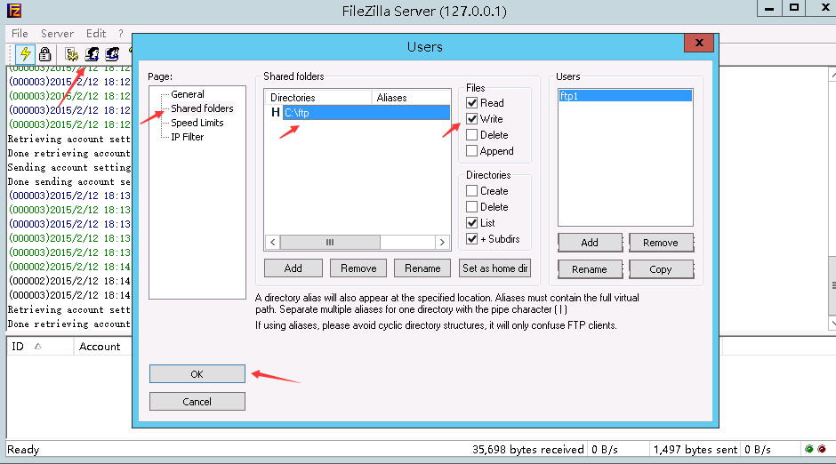 how to change permissions in filezilla
