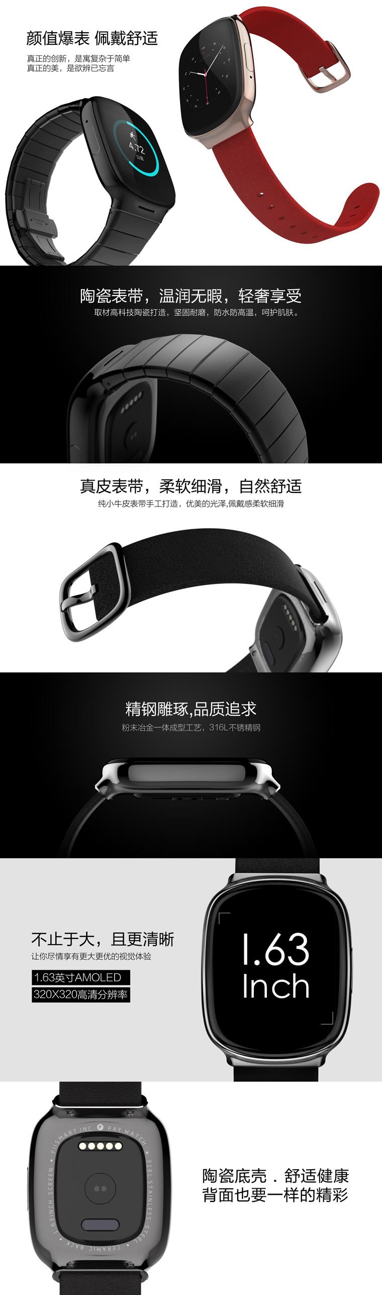 PAY WATCH可支付智能手表发起众筹 无需网络1秒付款的照片 - 5