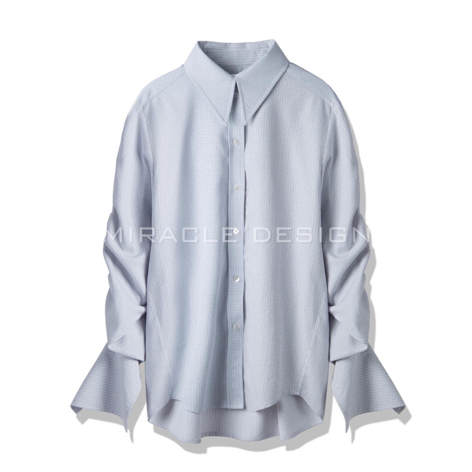 镶边纯棉衬衣