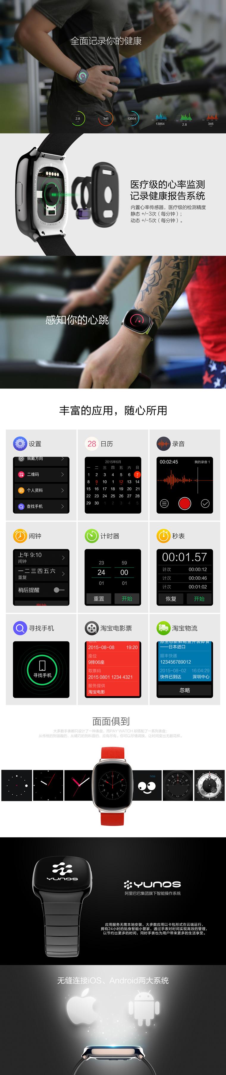 PAY WATCH可支付智能手表发起众筹 无需网络1秒付款的照片 - 4