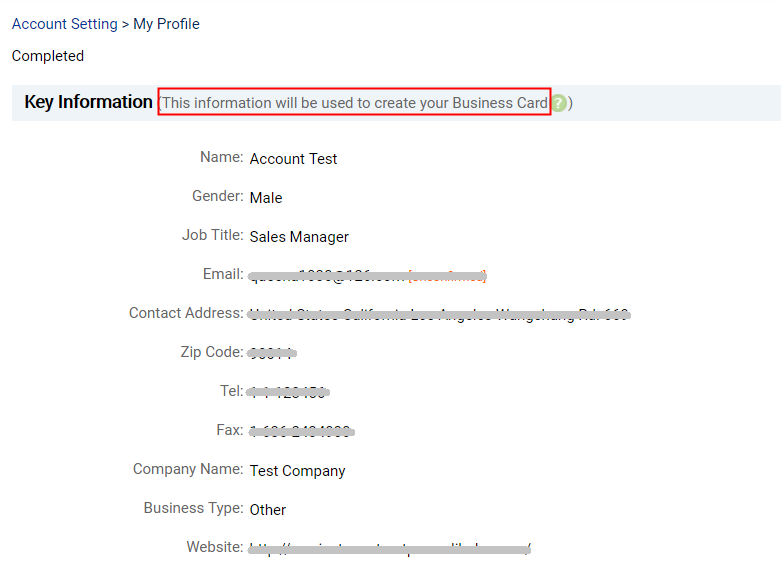 Alibaba help center how do i edit my business card key information via my alibaba account setting my profile and then you can edit the information which will be used to create your business card colourmoves