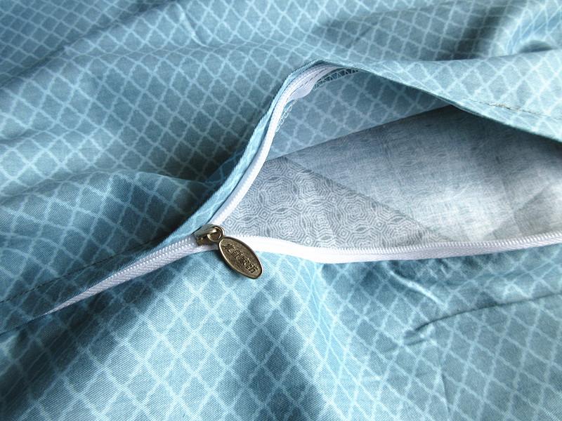 水星家纺全棉简约条格四件套