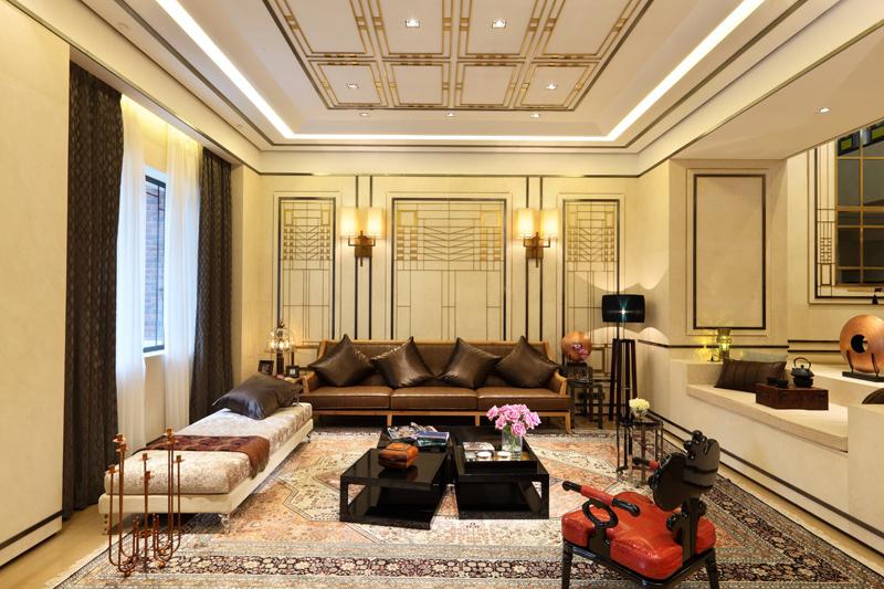 新中式家装地板效果图大全 木地板颜色效果图