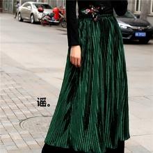 伏笔 墨绿丝绒半身裙 原创设计店 此岸歌声