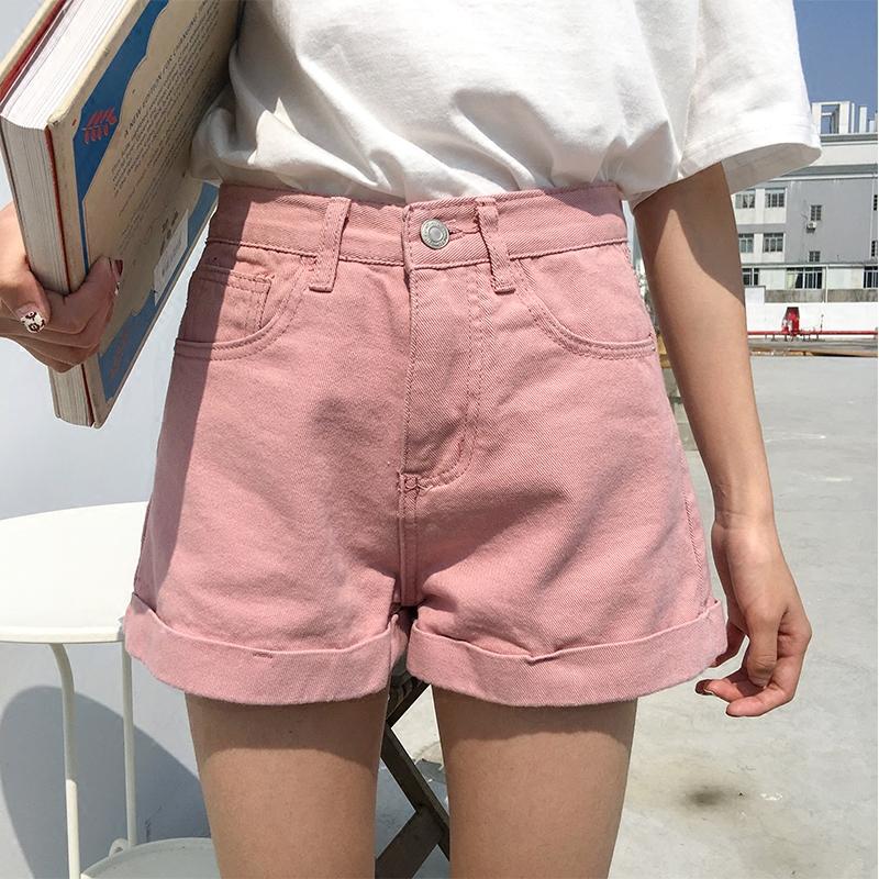 显瘦阔腿超短热裤