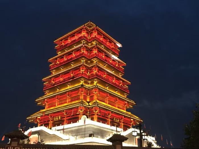 汉城湖旅游风景区大风阁