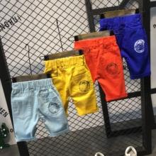 童装 男夏天小童五分裤 儿童短裤 薄蓝色白色浅蓝色韩版 2018新款 夏装