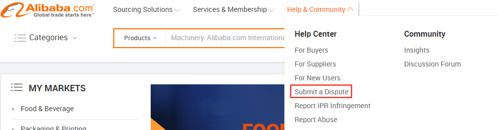 Alibaba com Help Center - How can i file a complaint?