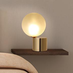 kc玻璃球形灯罩现代简约创意家用迷你小台灯卧室优雅圆球床头灯