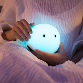 硅胶创意可爱精灵灯儿童卧室灯喂奶智能灯氛围小夜灯床头灯七彩