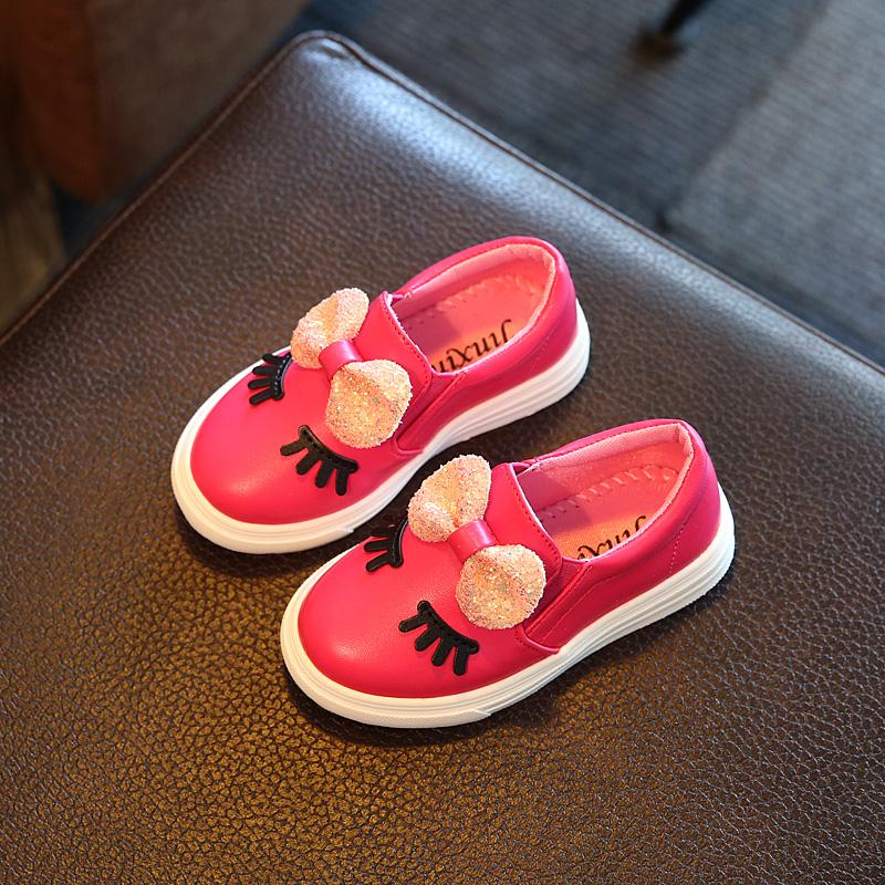 女童鞋春秋板鞋中小大童宝宝小白鞋女孩休闲鞋新款儿童运动鞋2017