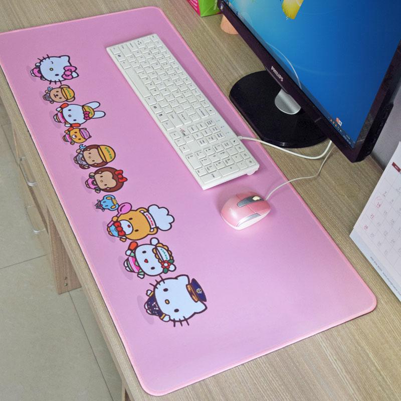 超大号加厚鼠标垫子可爱女生键盘垫加长办公桌垫胶垫写作业垫