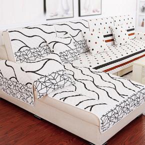 顾家门店家居同款真皮沙发坐垫布艺防滑四季垫定做 3d三明治