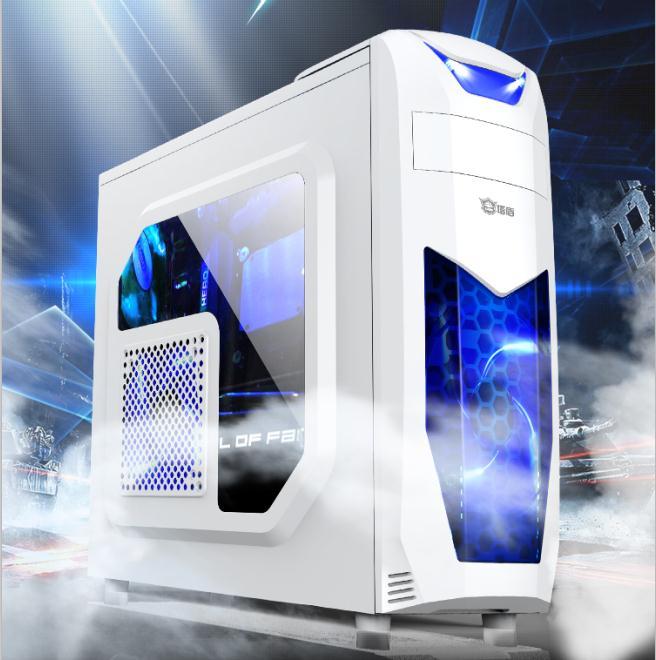 电脑机箱外壳台式机组装主机壳个姓大板水冷游戏防尘机箱