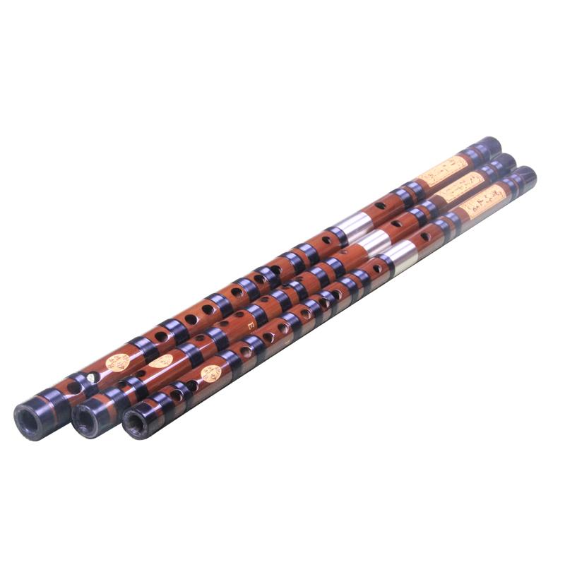 演奏 考级 初学 宇声乐器 鲍妙良精制 专业白铜双插苦竹横笛 笛子