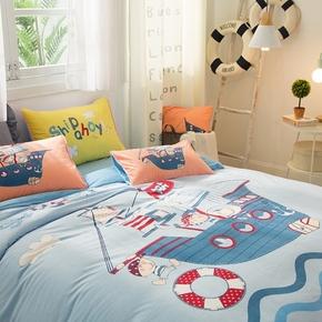 儿童三四件套纯棉男童女孩法莱绒珊瑚1.8全棉宝宝绒卡通床上用品