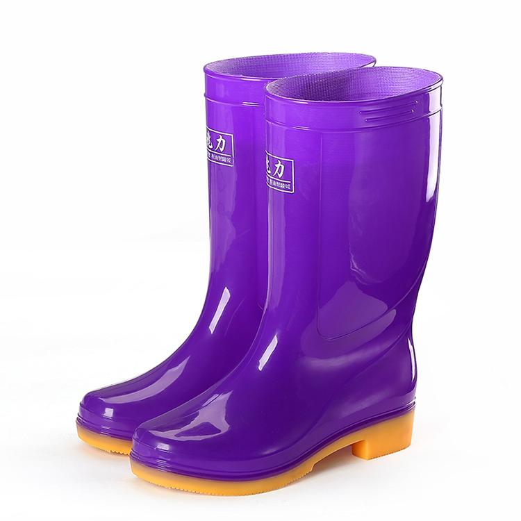 中筒男雨鞋女夏防滑厚底雨靴耐磨水靴耐酸碱防水鞋胶鞋洗车厨房鞋