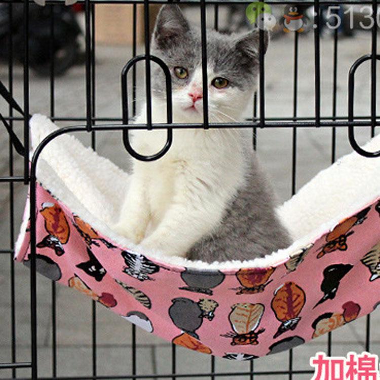 猫吊床猫笼吊床猫垫子猫床宠物床垫猫窝猫咪用品猫挂床猫咪吊床3元优惠券