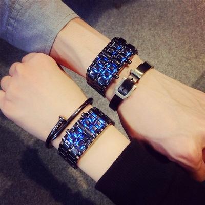韩版LED熔岩酷炫夜光时尚创意概念CF潮男女学生情侣手链电子手表品牌旗舰店