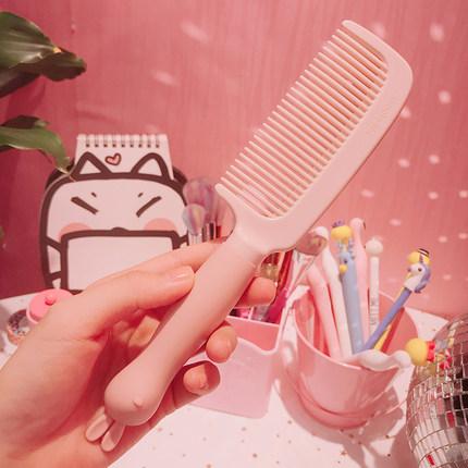 卡通学生少女梳子卷发梳直发长发不打结家用塑料按摩美发顺发梳
