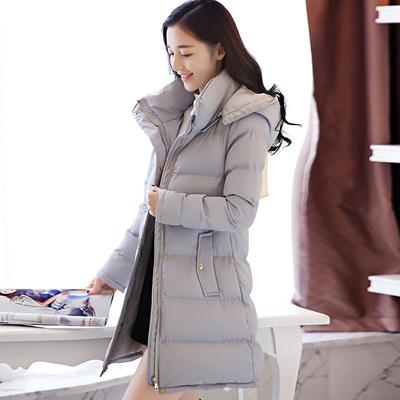 2018冬装新款女装韩版羽绒潮时尚加厚棉衣服阿依莲中长款棉袄外套