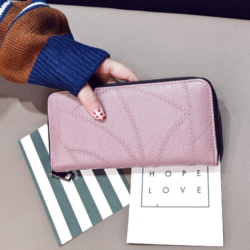 日韩版粉色手包