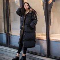 少女可爱显瘦棉衣大袄女长款大码冬季外套棉服女童韩版过膝冬天mm