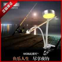尼可筏钓灯黄光双灯头集鱼灯大范围引鱼灯诱鱼灯夜钓灯钓鱼灯包邮