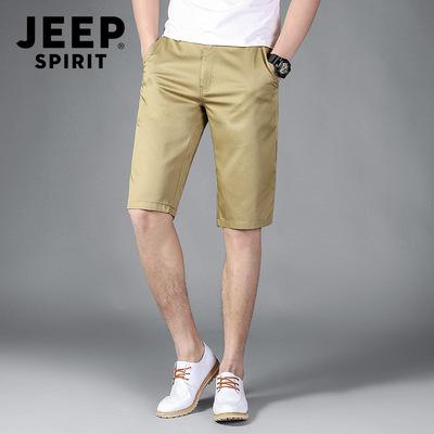 jeep专柜正品男装潮流夏季新款男士吉普休闲裤五分吉谱短裤子大码