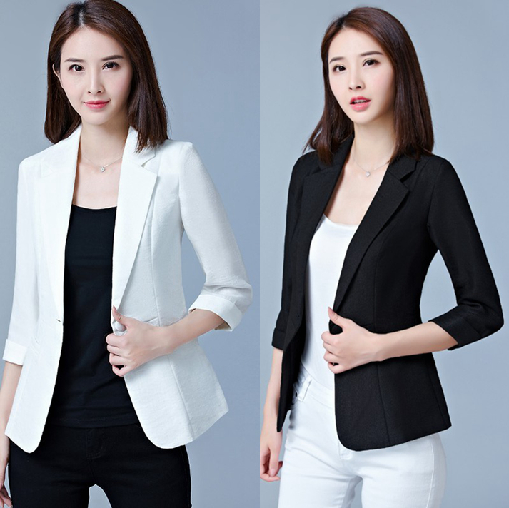 5XL large size fat MM Slim cotton linen small suit female summer Korean version of the professional volume