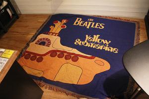 北欧复古美式英伦披头士潜水艇挂毯针织线毯装饰休闲毯野外地毯
