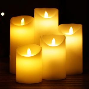 LED电子石蜡烛浪漫表白充电遥控婚庆礼布置舞台假仿真装饰道具灯