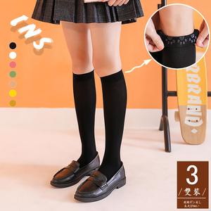 袜子女夏季薄款半筒丝袜防滑长筒袜半截及膝小腿袜春秋中筒JK制服